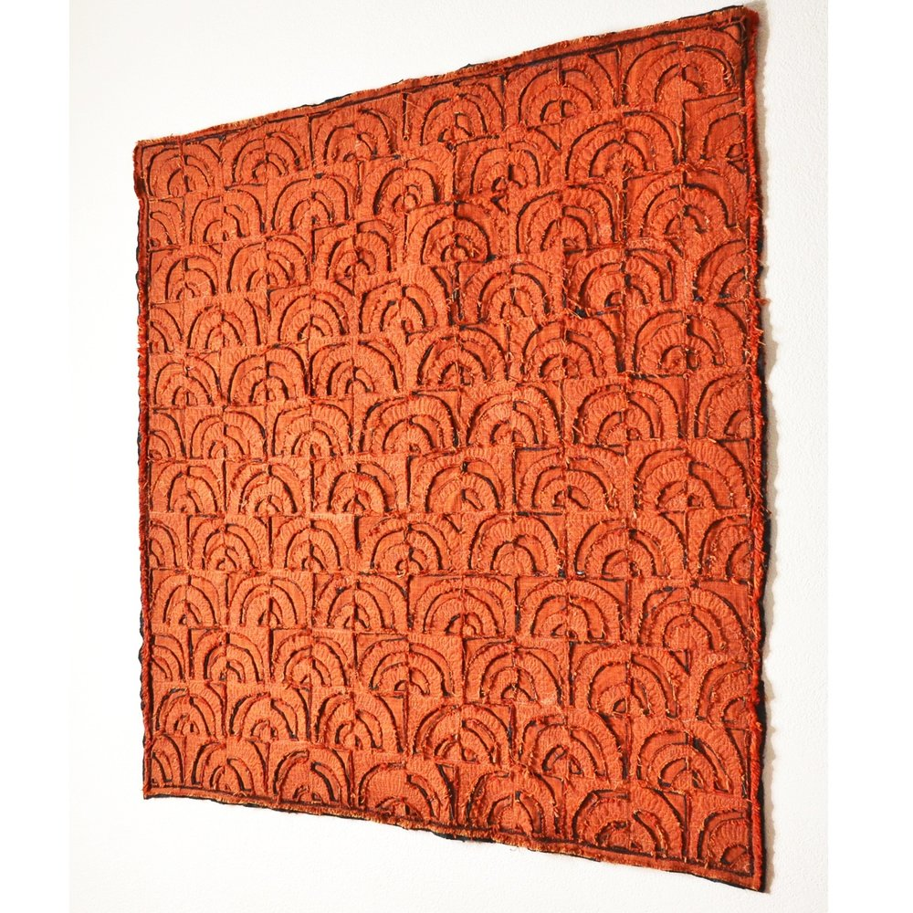 "Willis, Joshua, ""Quarter Turns, Orange,"" Raw Linen, 2018"