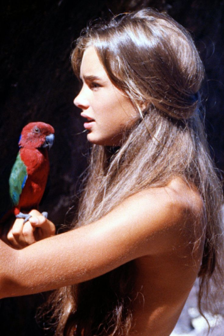 Brooke Shields with a parrot. <3