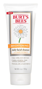 Burt's Bees Brightening Daily Facial Cleanser . I looove this stuff. So gentle, and truly does brighten and even skin tone.