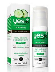 Yes To Cucumbers Daily Calming Moisturizer with SPF 30 . Helps reduce redness and protects from sun damage!