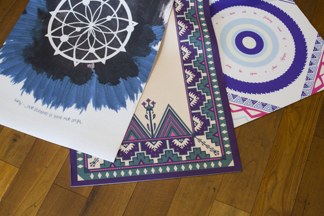 I'm obsessing over these  pretty printed yoga mats . Time to replace mine, and my standards got a lot higher.