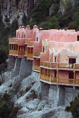 This cliffside hotel is quite the getaway. Hotel Mirador in Sinaloa, Mexico.