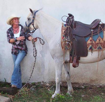 """Heather """"Blue"""" Van Doorninck, owner of  Rancho Chilamate ."""