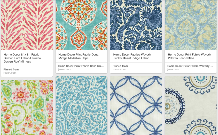 I've been obsessing over light, bright and fresh fabrics for home decor. How much do you love these!?