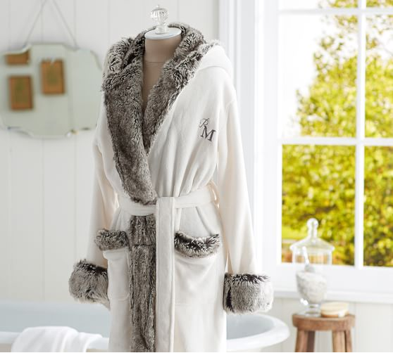 monogram-fur-bathrobe-potterybarn