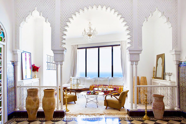 This gorgeous home in Tangier, Morocco , has me dreaming of a life abroad!