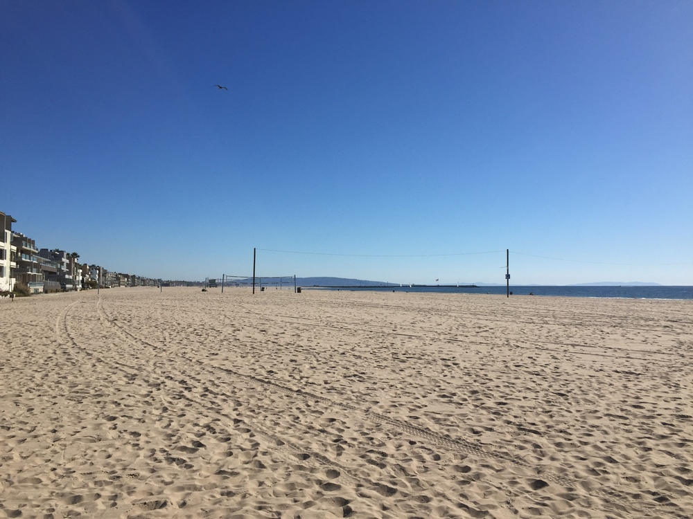 Venice beach. It blew my mind how big and wide and empty the beaches were!