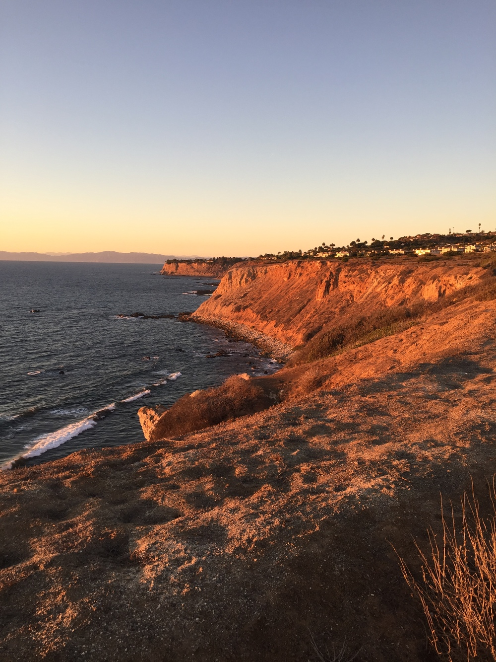 Golden Hour along the coast at Ranchos Palos Verdes.