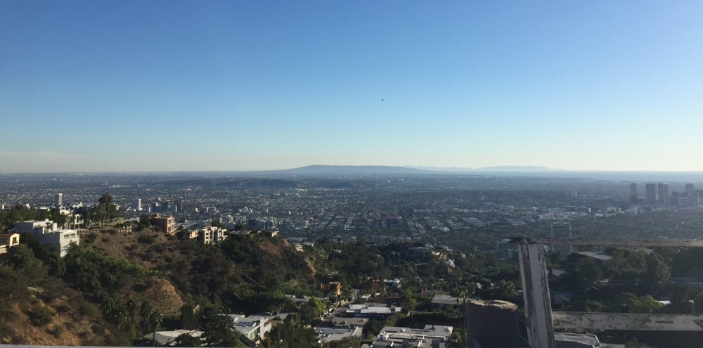 Somehow we managed to get lost in the hills near Laurel Canyon, but we found this view!