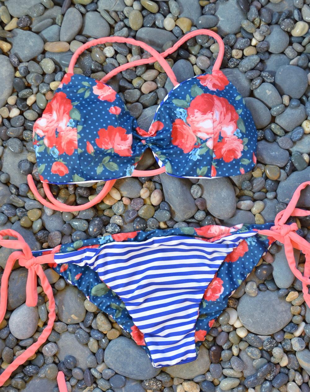 striped-floral-bikini