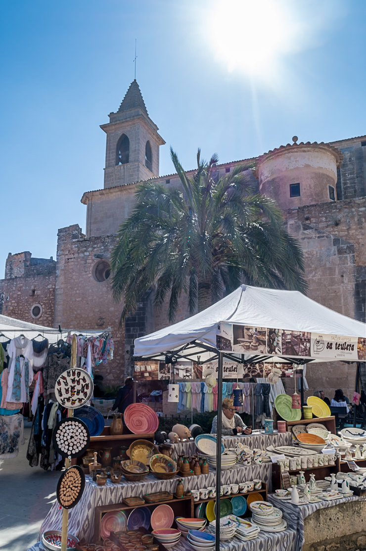 The Market in Santanyi, Mallorca, Spain