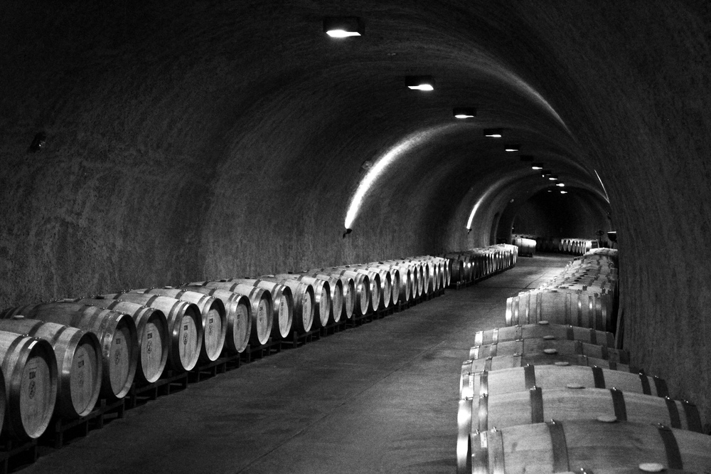 Porter Family Wine Caves.  Kind of like the Bat Cave, but instead of being filled with military grade weapons, it's filled with barrels of wine.  See more photos of Napa  here !