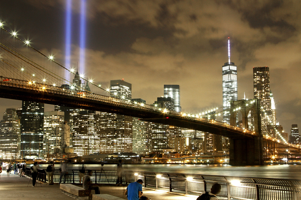 Click the image to go straight to the  WTC Memorial Lights & Freedom Tower Gallery