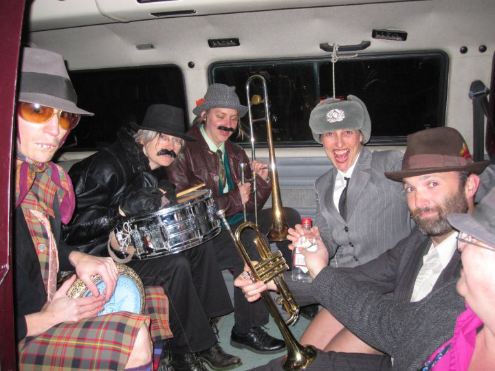 Ilse, partying in the Eurovan with the Oxygen Orkestar