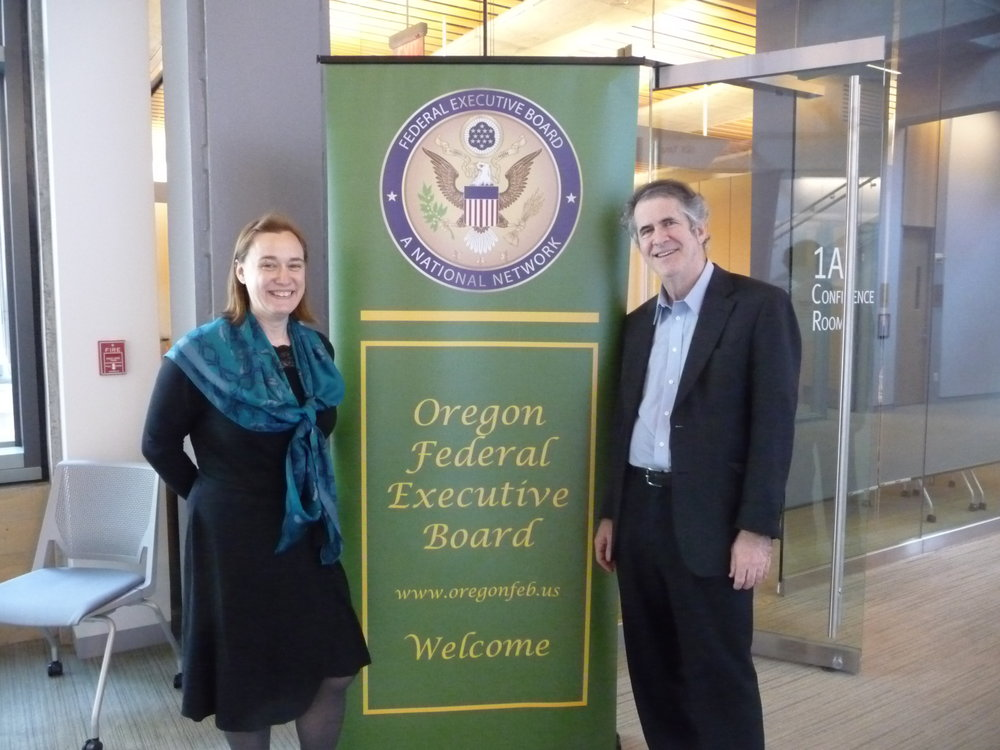 OFEB Executive Director Joyce Hamilla Welcomes David Gamlow of Clarity Seminars to deliver Martial Arts for the Mind & THe art of Supportive Leadership to the Oregon FEB membership