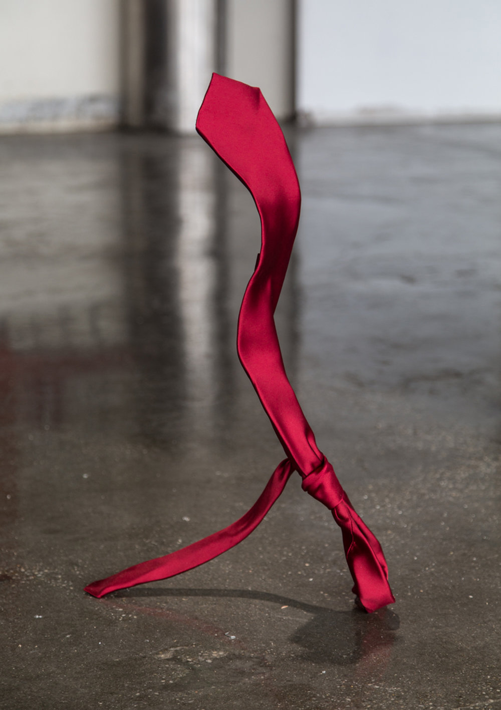 Untitled (Schmuck), 2017   Necktie, Armature Wire