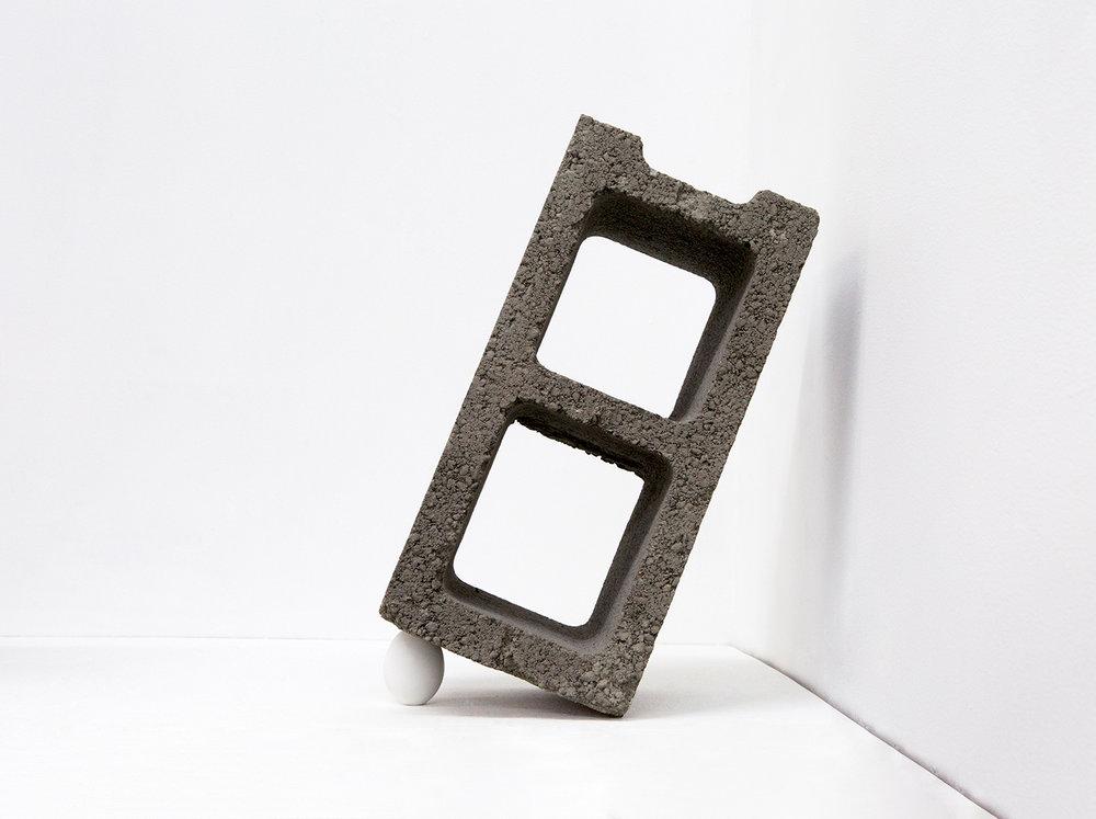 Trap, 2016   Concrete, Egg Shell