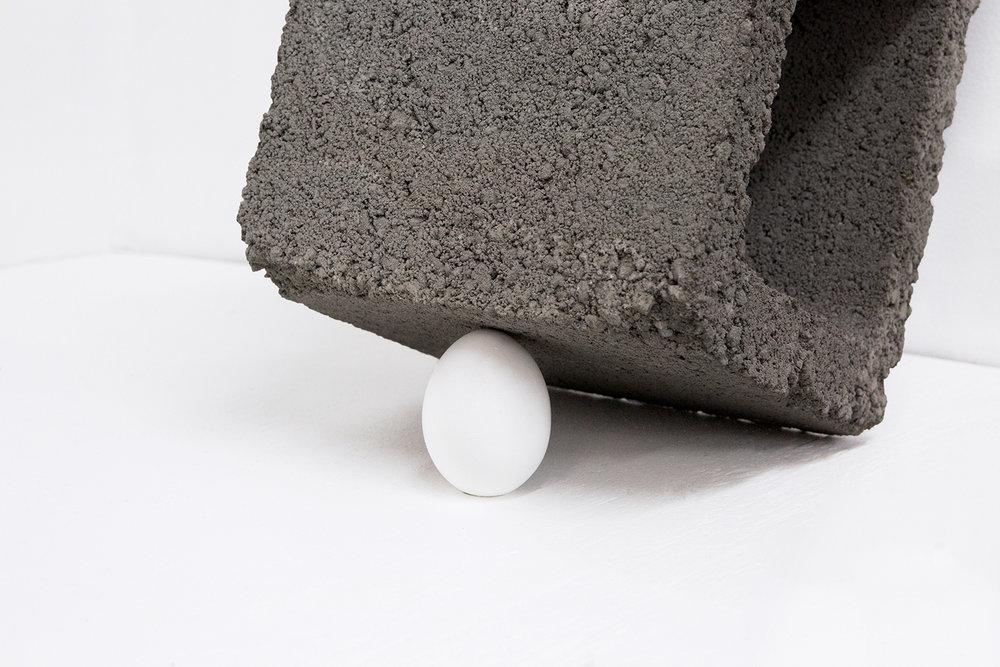 Trap, 2016 (Detail)   Concrete, Egg Shell