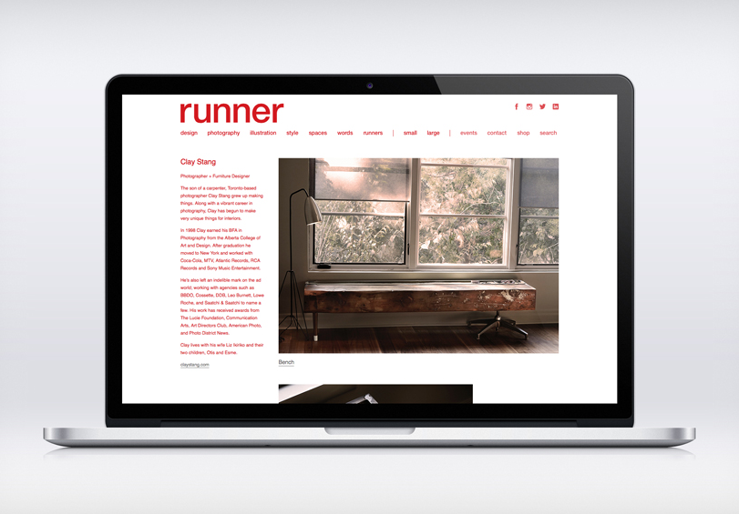 Runner Collective   website and branding with  Freshform Interactive