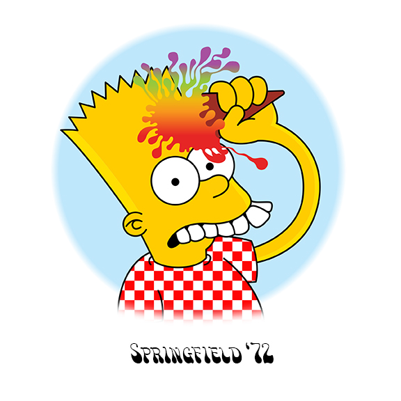 New bootleg bart coming soon. The Simpsons mashed up with The Grateful Dead's iconic  Europe '72  art. mrzimmer x  milhousevh