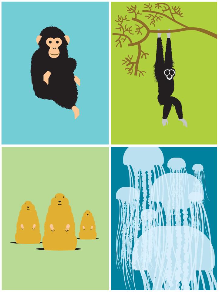 Old animal illustrations circa 2003.