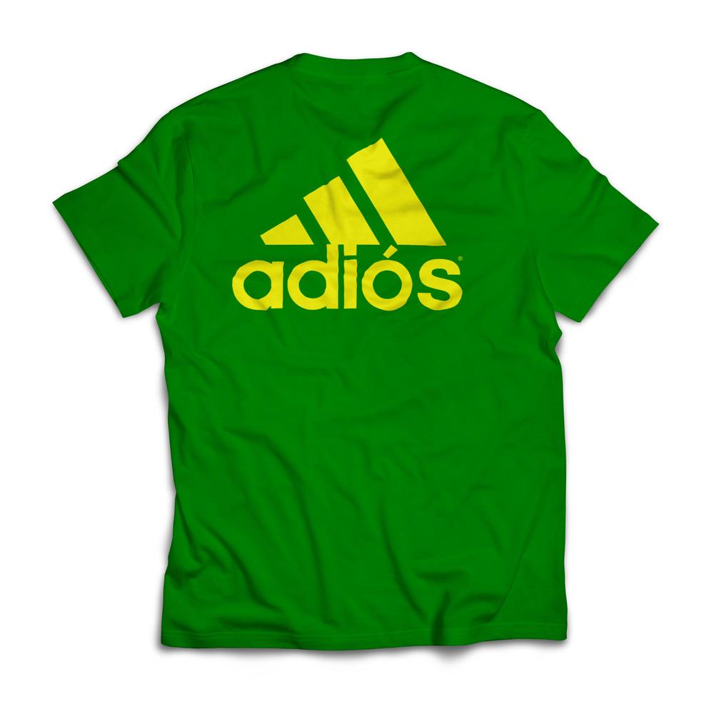 Bootleg Adidas Running Shirt. Adiós.