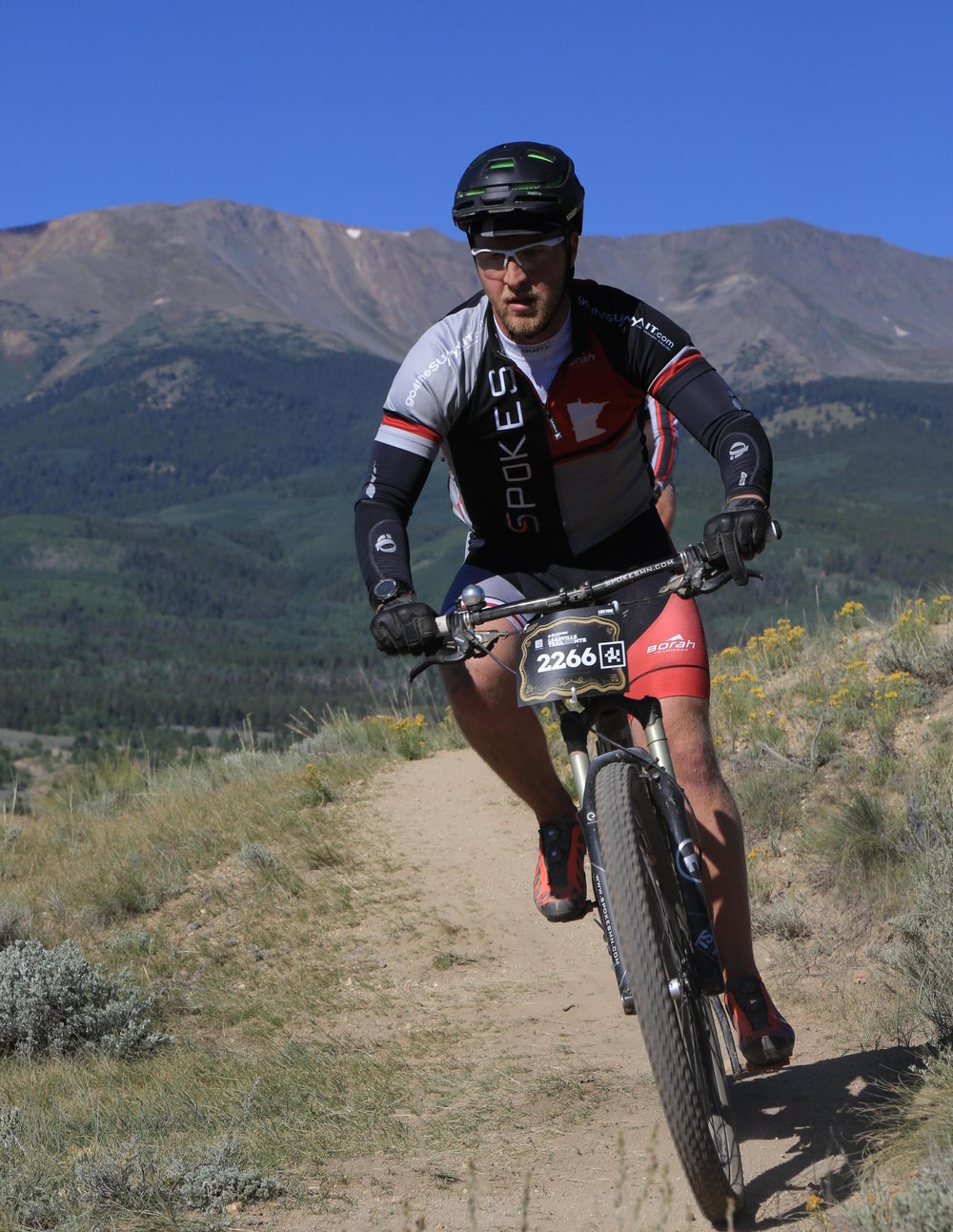 Justin racing the 2016 Leadville 100 MTB