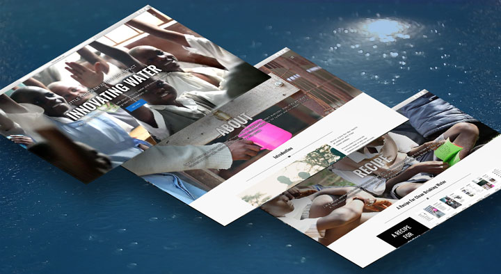 Responsive Design of Innovating Water Website