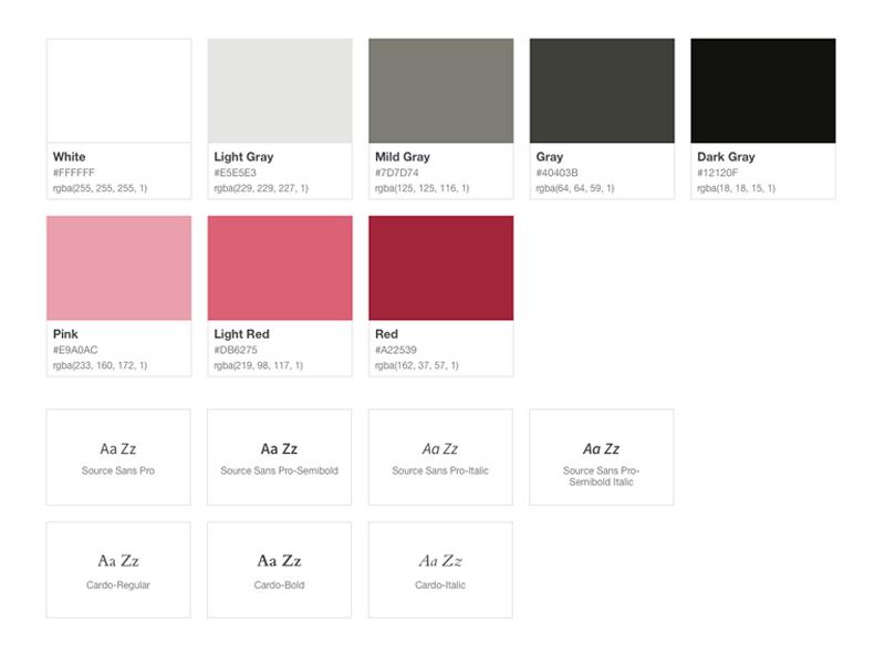 Color Scheme & Typography
