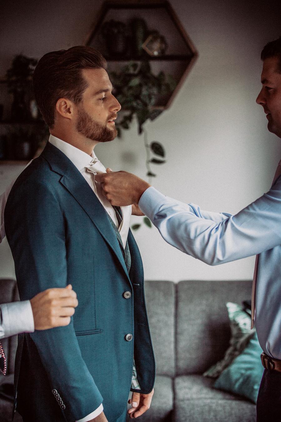 Koen in zijn pak van  Franck custom made suits
