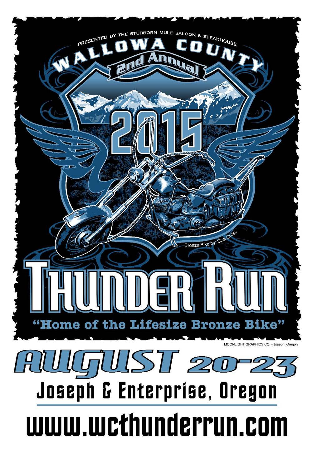 Thunder Run T-Shirt will be available for purchase at Registration and during the Thunder Run.
