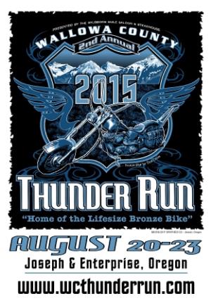 2015 Thunder Run Poster: $8 Get your 11 x 17 poster, designed by Chuck Garrett, Moonlight Graphics