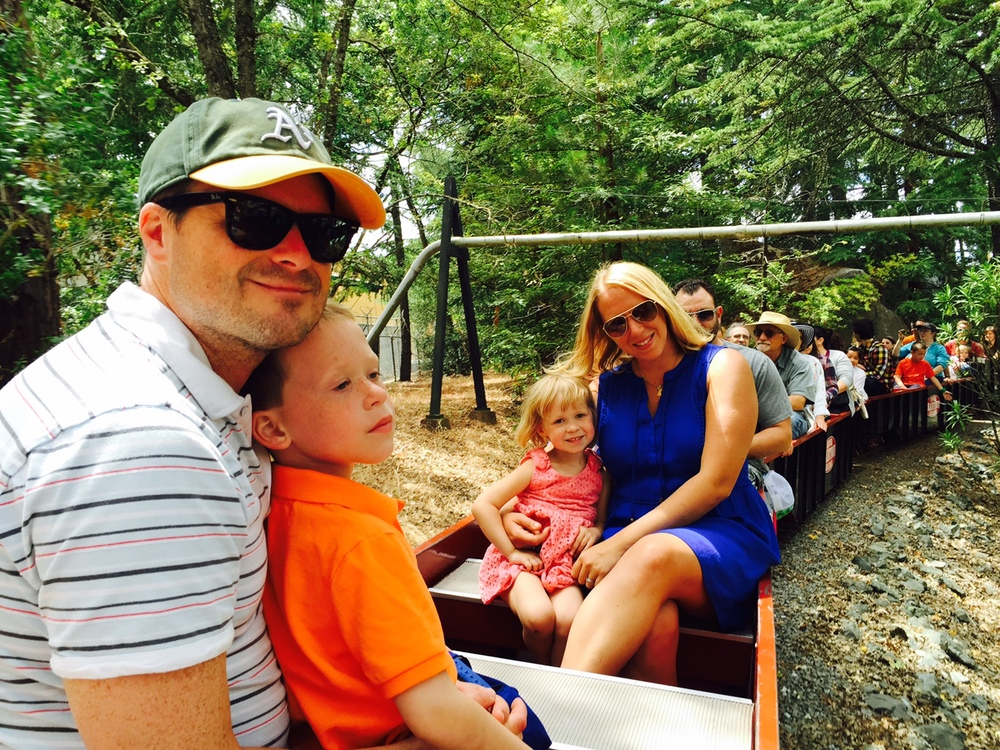 Riding the train at Traintown Sonoma