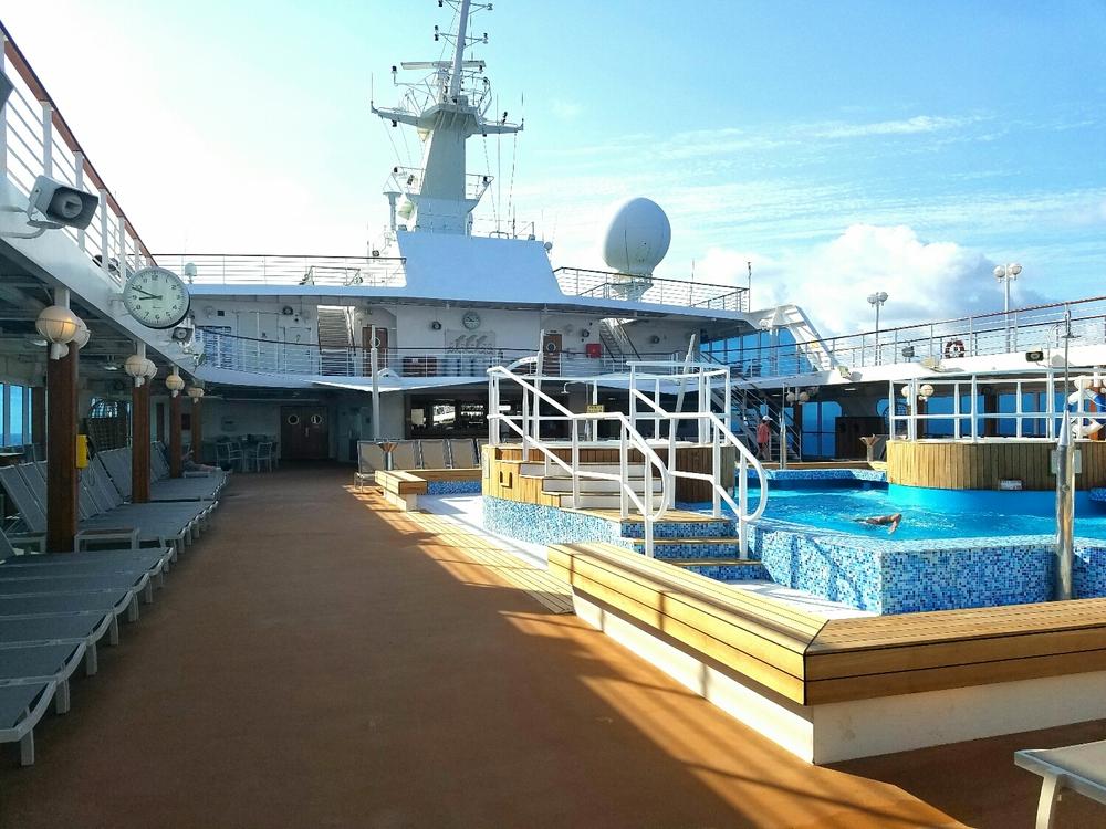 Lido deck pool