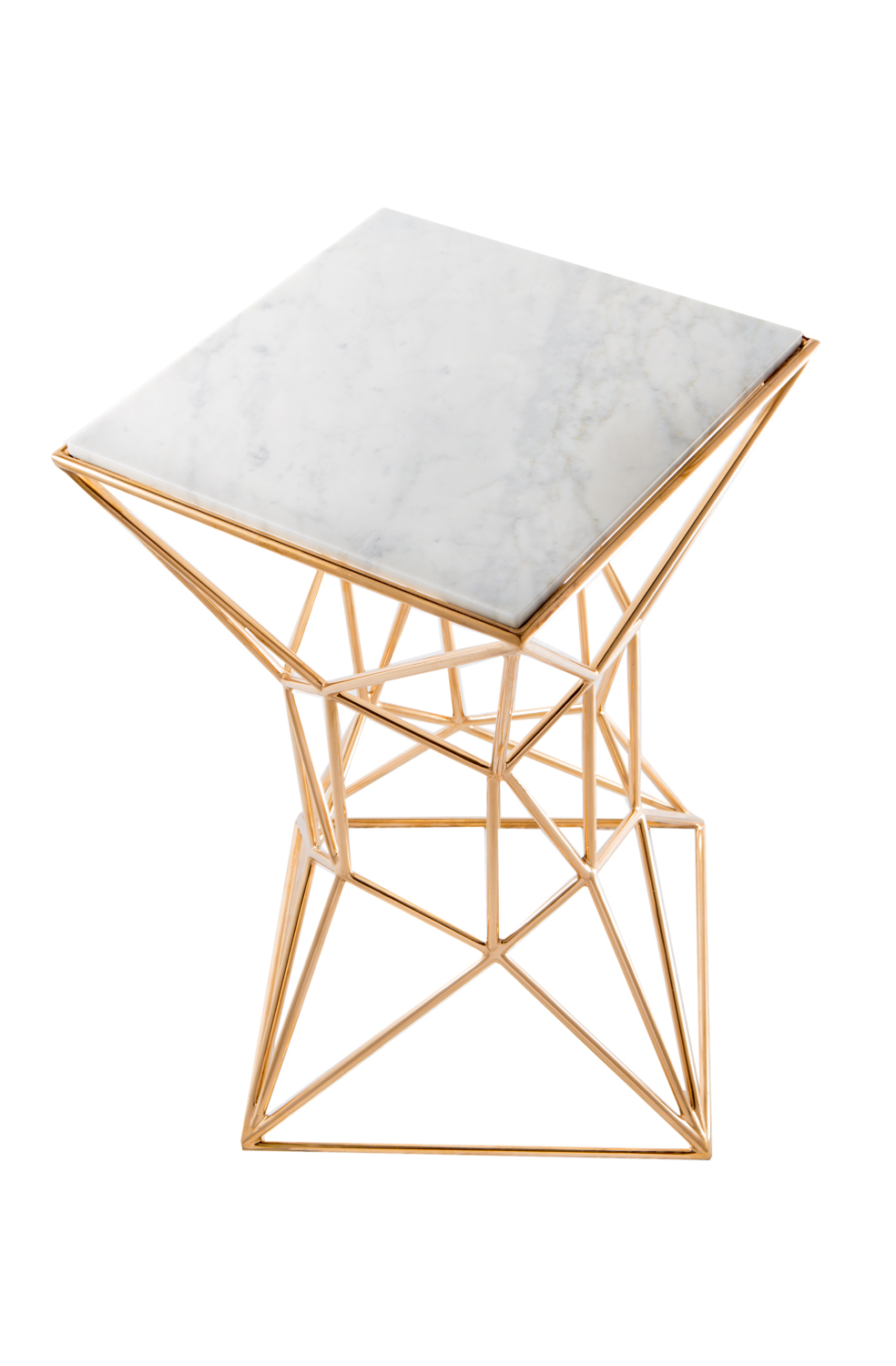 Archimedes Bronze Small Side Table