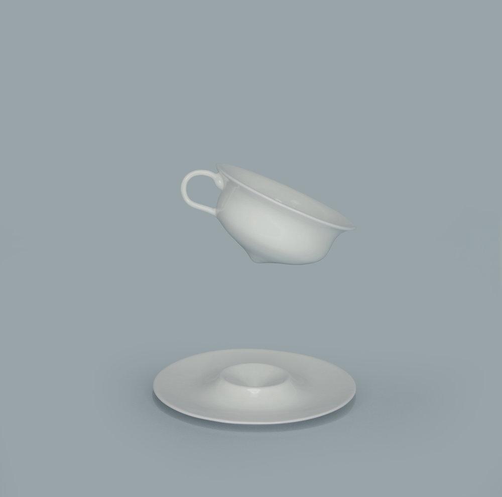 V. RIM TEA CUP