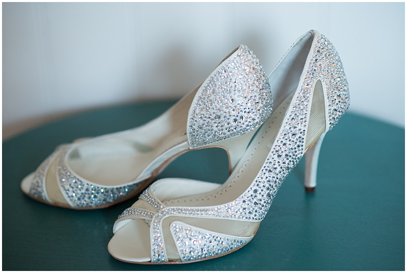 The Park Savoy Estate Wedding Bride's Shoes | New Jersey Wedding Photographer