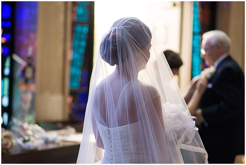 The Park Savoy Estate Wedding Bride before walking down the aisle | NJ Wedding Photographer