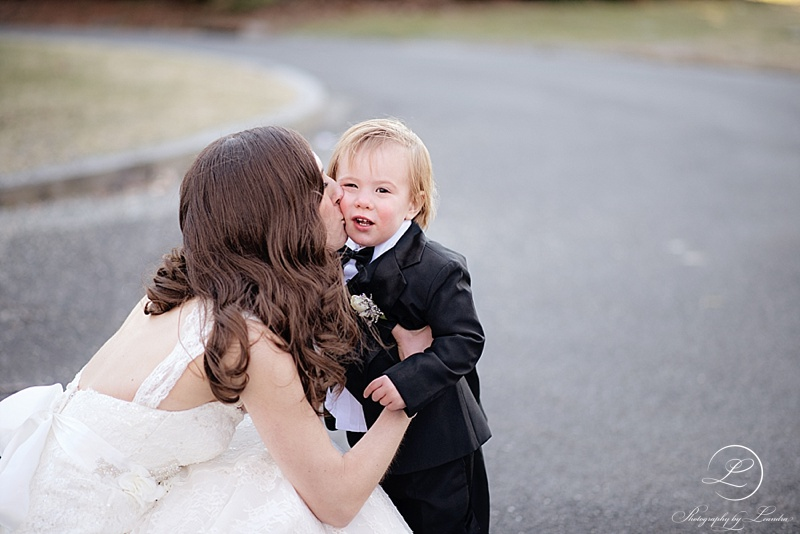 The Bride with her cute nephew :)