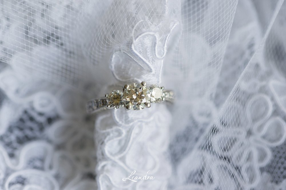 Wedding Ring on lace