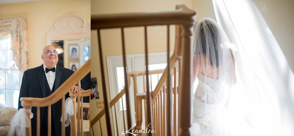 Park Savoy Estate Bride and Father First Look New Jersey Wedding Photographer