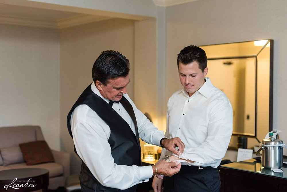 The Park Savoy Estate Wedding Groom Getting Ready with Father | New Jersey Wedding Photographer