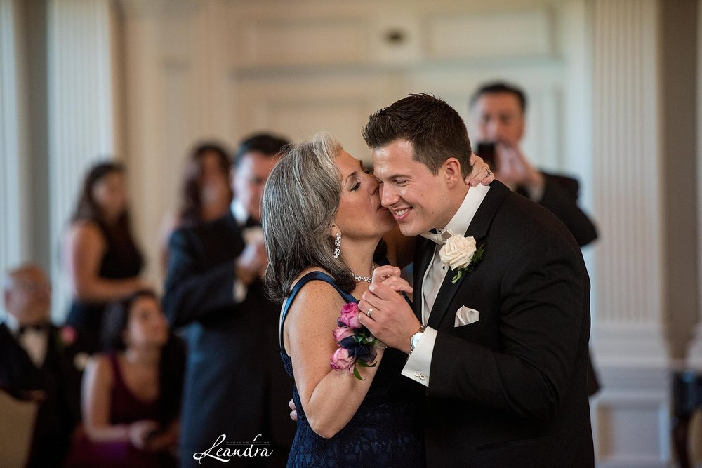 The Park Savoy Estate Wedding Mother son Dance | New Jersey Wedding Photographer