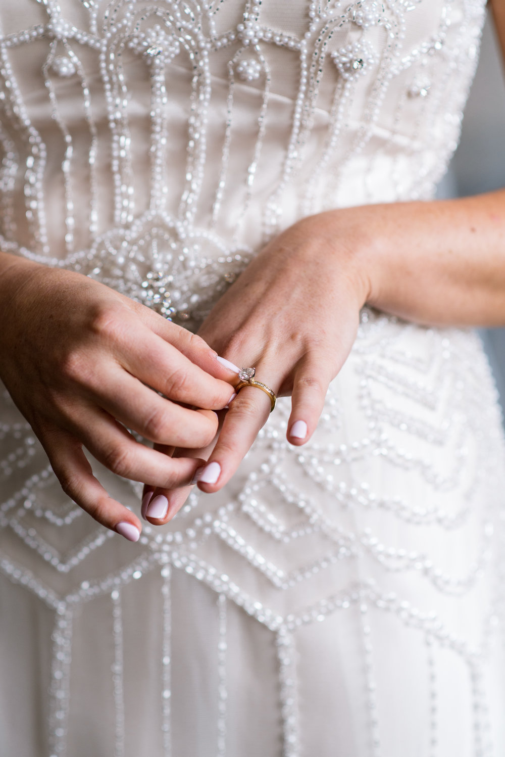 Stony Hill Inn Bride with engagement ring on her finger