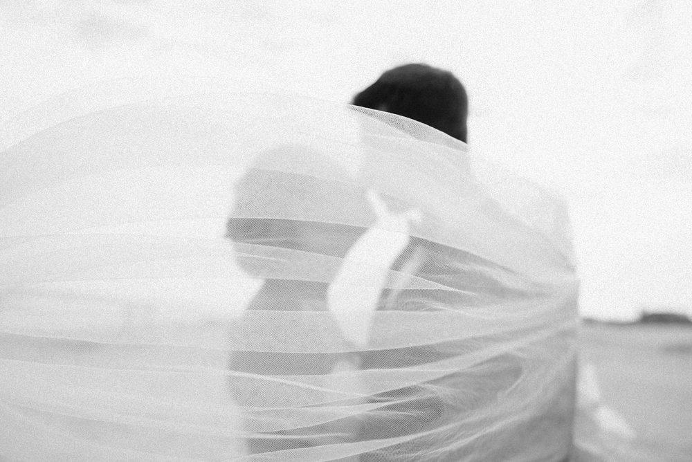 Bride and Groom under the veil | Washington D.C. Wedding Photographer