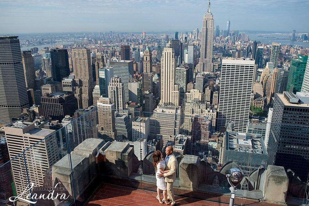 Top of the Rock NYC Engagement Session. Photography by Leandra_0052.jpg