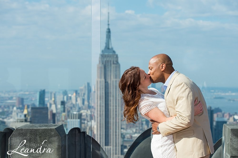 Top of the Rock NYC Engagement Session.Photography by Leandra_0055.jpg