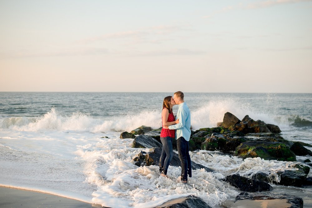 Beach Engagement photos in Cape May New Jersey