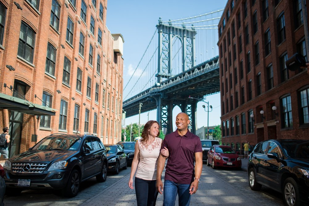 Brooklyn Engagement Photos in DUMBO