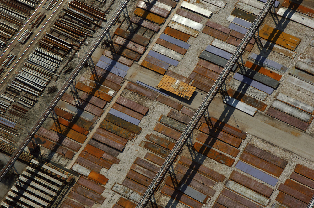 "Figure 2: ""Malfacone steel yard, Malfacone, Italy"". Photograph: Christopher Line. Patterns emerge from simple rules everywhere."
